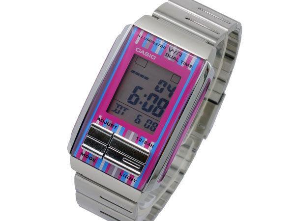 カシオ CASIO フューチャリスト FUTURIS デジタル レディース 腕時計 LA-201W-4C