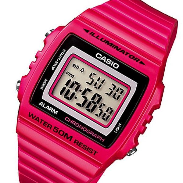 カシオ CASIO スタンダード デジタル メンズ 腕時計 W-215H-4A ローズレッド