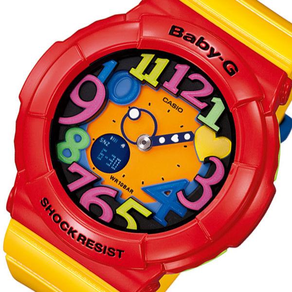 カシオ ベビーG クレイジーネオンシリーズ レディース 腕時計 BGA-131-4B5 イエロー