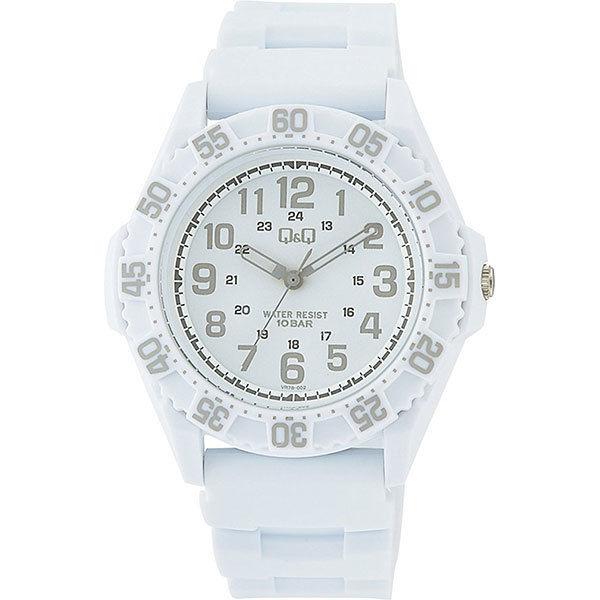 シチズン CITIZEN キューアンドキュー Q&Q 10気圧防水 メンズ 腕時計 VR78-002 ホワイト