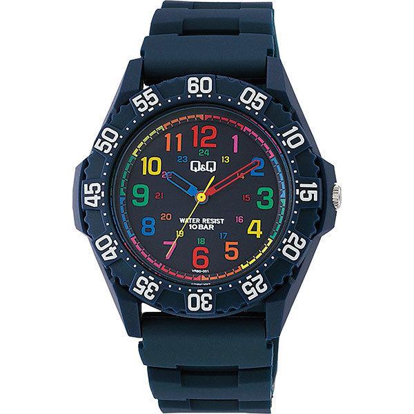 シチズン CITIZEN キューアンドキュー Q&Q 10気圧防水 メンズ 腕時計 VR80-001 ブルー