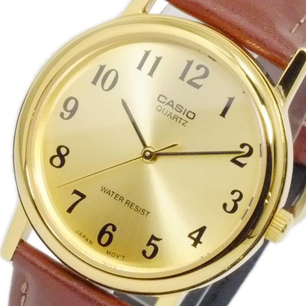 カシオ CASIO スタンダード クオーツ メンズ 腕時計 MTP-1095Q-9B1 ゴールド