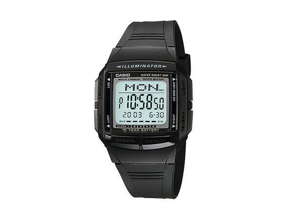 カシオ CASIO データバンク DATA BANK デジタル メンズ デュアルタイム 腕時計 DB-36-1AJF