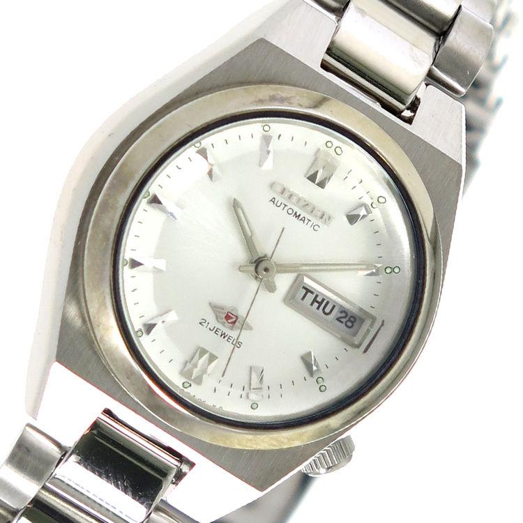 シチズン CITIZEN 自動巻き レディース 腕時計 PD2620-50A シルバー