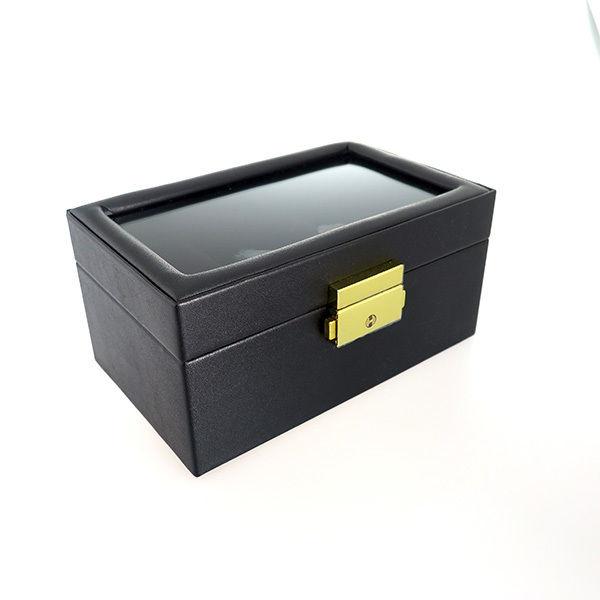 ペアウォッチ アクセサリーボックス 鍵付き PAIR-BOX ブラック