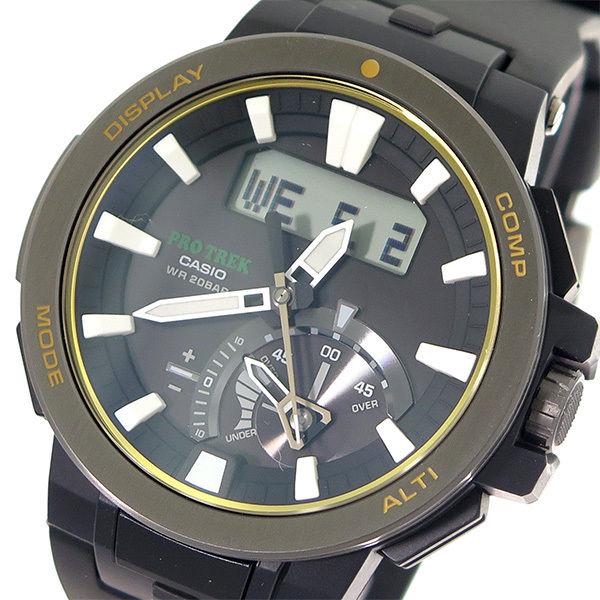 カシオ CASIO プロトレック PROTREK ソーラー クオーツ メンズ 腕時計 PRW-7000-1B ブラック/ブラック