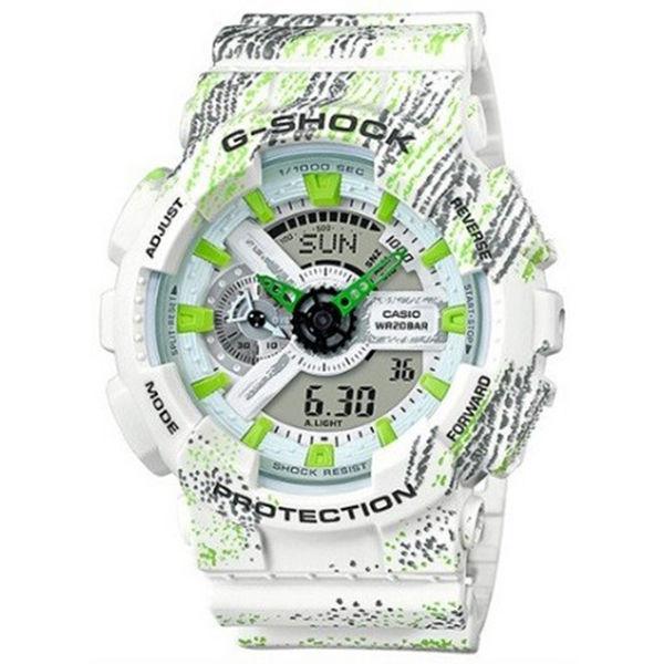 カシオ CASIO Gショック G-SHOCK アナデジ ミスト・テクスチャー メンズ 腕時計 GA-110TX-7A ホワイト