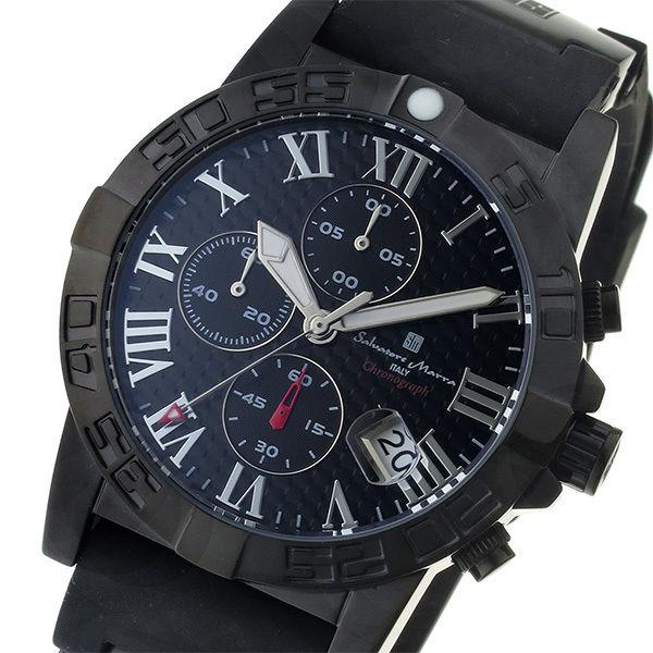 サルバトーレ マーラ SALVATORE MARRA クロノ クオーツ メンズ 腕時計 SM17111-BKBK ブラック