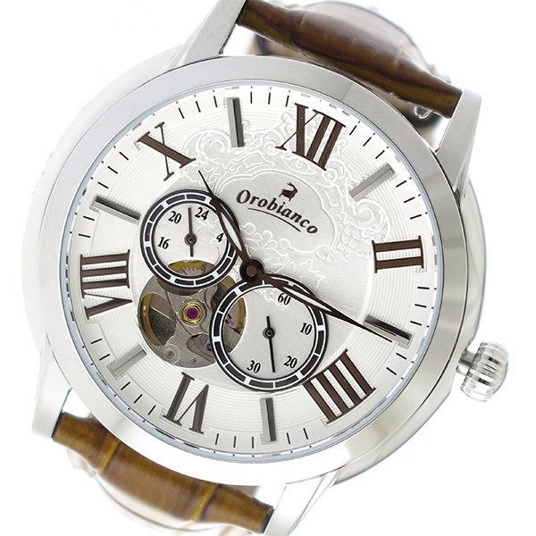 オロビアンコ OROBIANCO 自動巻き メンズ 腕時計 OR-0035-1BRSV シルバー