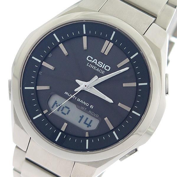 カシオ CASIO リニエージ LINEAGE タフソーラー クオーツ メンズ 腕時計 LCW-M500TD-1A ブラック/シルバー