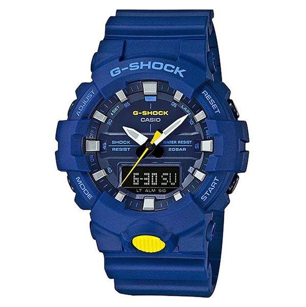 カシオ CASIO Gショック G-SHOCK スニーカーモデル アナデジコンビ アナデジ クオーツ メンズ クロノ 腕時計 GA-800SC-2A ブルー