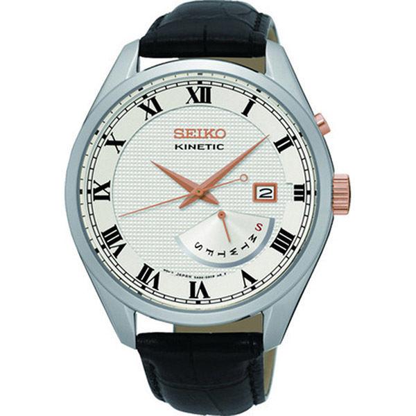 セイコー SEIKO キネティック クオーツ メンズ 腕時計 SRN073P1 シルバー