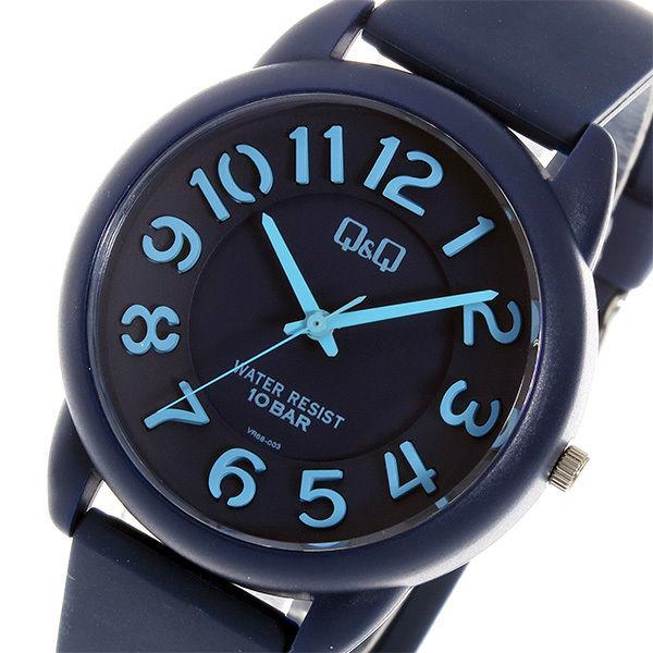 シチズン キューアンドキュー クオーツ ユニセックス 腕時計 VR68-003 ネイビー