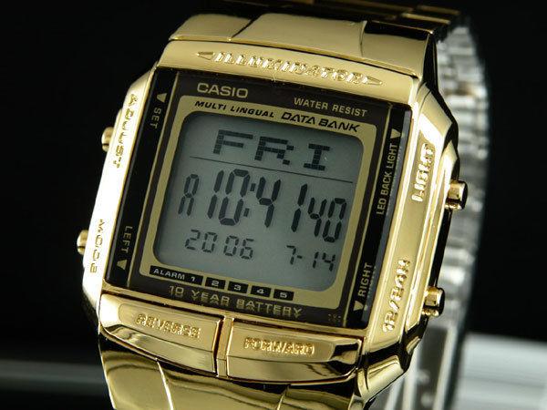 カシオ CASIO データバンク DATA BANK メンズ 腕時計 ゴールド DB360G-9A