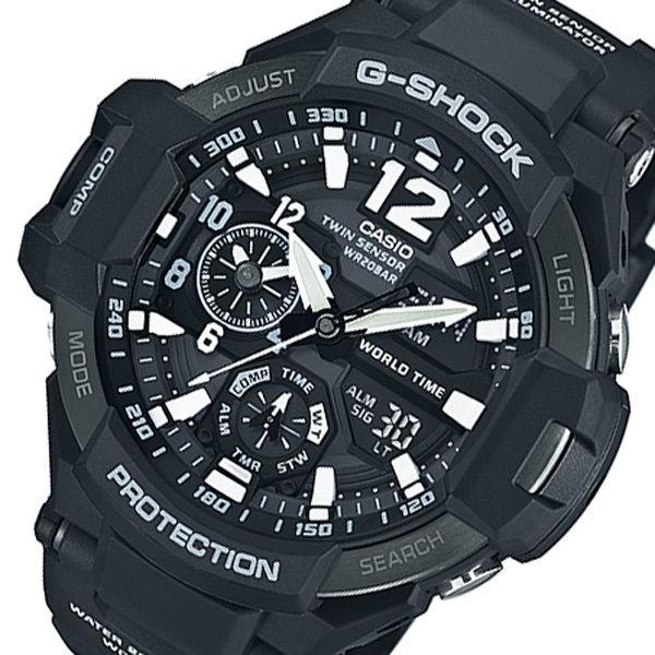 カシオ CASIO G-SHOCK デジアナ メンズ 腕時計 GA-1100-1AJF ブラック 国内正規