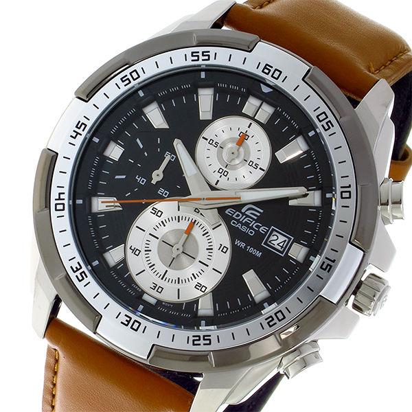 カシオ CASIO エディフィス EDIFICE クオーツ クロノ メンズ 腕時計 EFR-539L-1B ブラック
