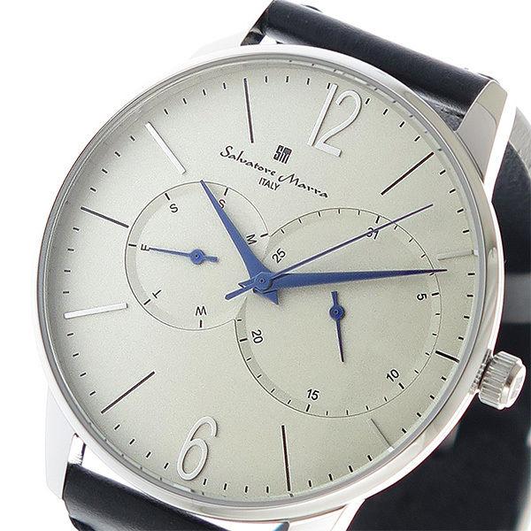 サルバトーレマーラ SALVATORE MARRA クオーツ メンズ 腕時計 SM18105-SSWH ホワイト
