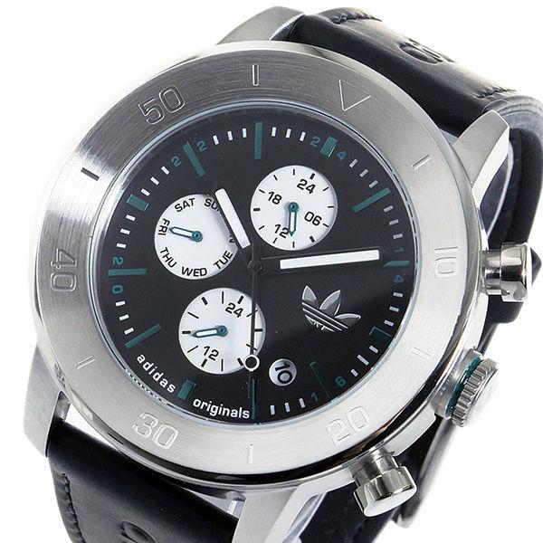 アディダス ADIDAS マンチェスター クオーツ メンズ 腕時計 ADH3099 ブラック