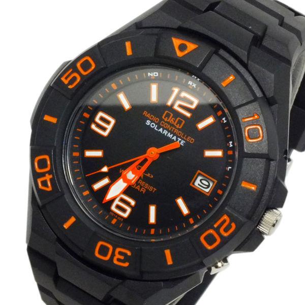 シチズン キューアンドキュー ソーラー 電波 メンズ 腕時計 HG14-325 ブラック