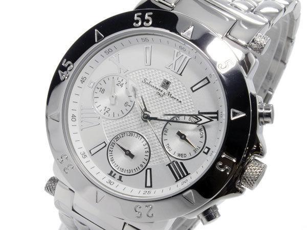 サルバトーレマーラ SALVATORE MARRA クオーツ メンズ 腕時計 SM14118-SSWH
