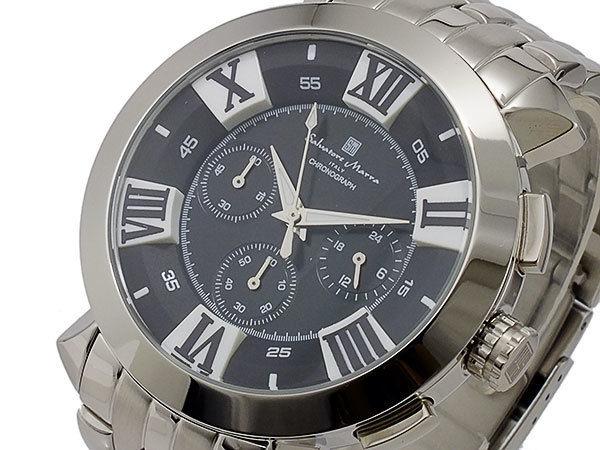 サルバトーレマーラ クオーツ メンズ クロノグラフ 腕時計 SM14107-SSBKSV