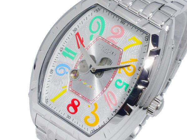 コグ COGU 自動巻き ジャンピングアワー メンズ 腕時計 JH7M-WCL シルバー