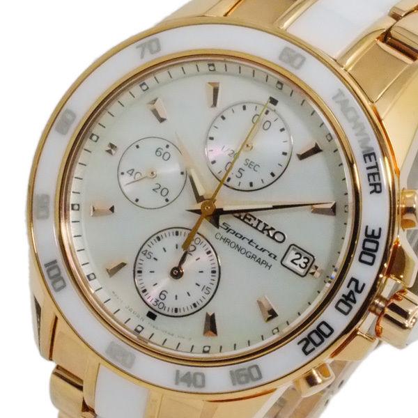 セイコー SEIKO スポーチュラ クオーツ レディース クロノ 腕時計 SNDW98P1