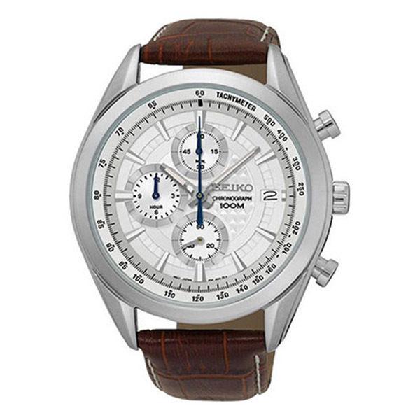 セイコー SEIKO クロノ クオーツ メンズ 腕時計 SSB181P1 シルバー