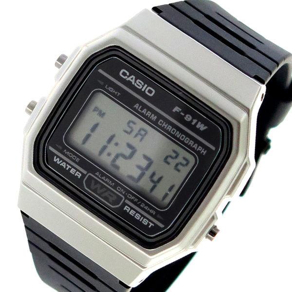 カシオ CASIO クオーツ ユニセックス 腕時計 F-91WM-7A ブラック