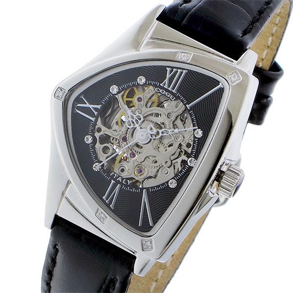 コグ COGU 自動巻き レディース 腕時計 BS01T-BK ブラック/シルバー