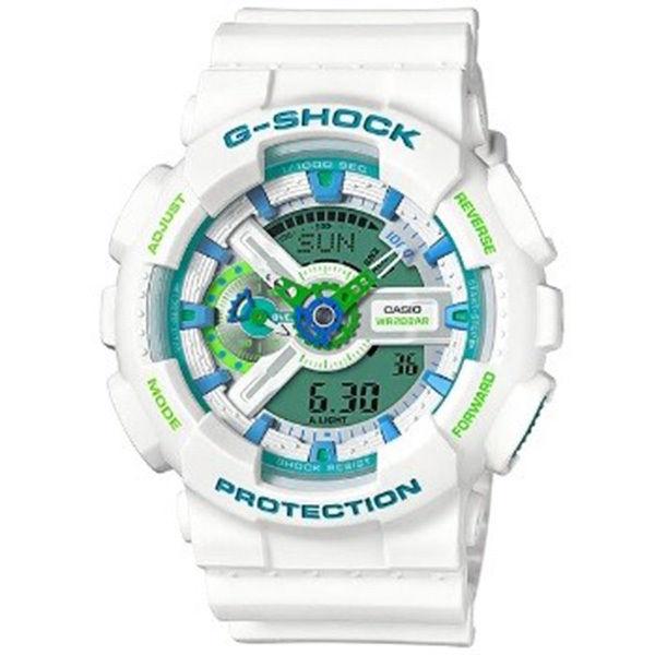 カシオ CASIO Gショック G-SHOCK アナデジコンビ アナデジ クオーツ メンズ クロノ 腕時計 GA-110WG-7A グリーン/ホワイト