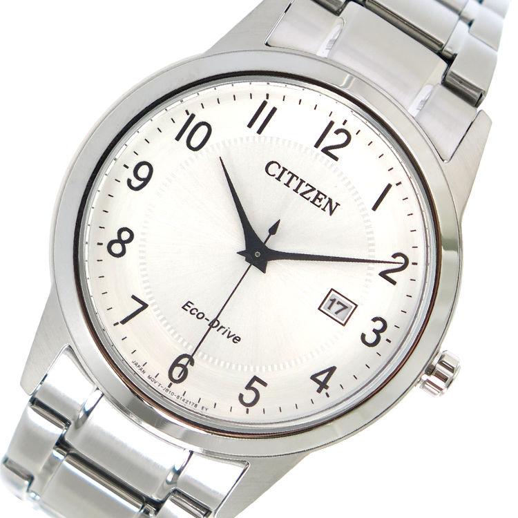 シチズン CITIZEN エコ・ドライブ クオーツ メンズ 腕時計 AW1231-58B シルバー