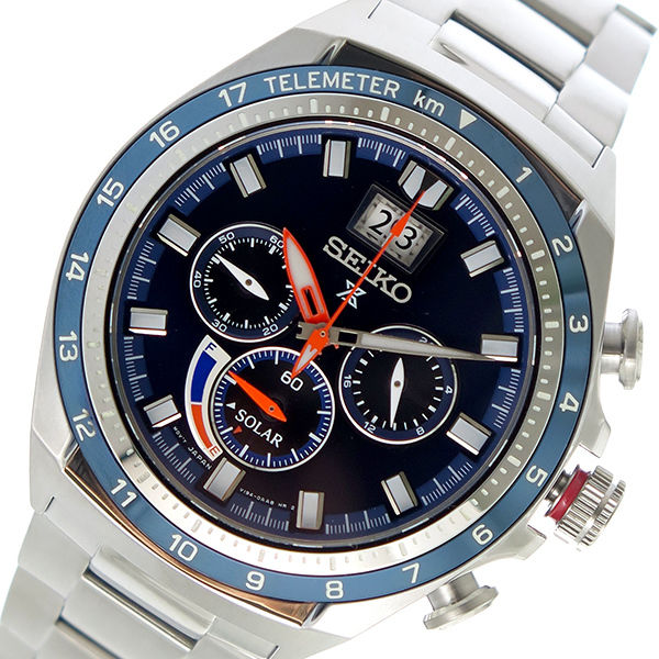 セイコー SEIKO プロスペックス PROSPEX ソーラー メンズ 腕時計 SSC601P1 ネイビー