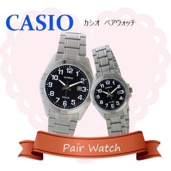 【ペアウォッチ】 カシオ CASIO チープカシオ ユニセックス 腕時計 MTP-1308D-1B LTP-1308D-1B