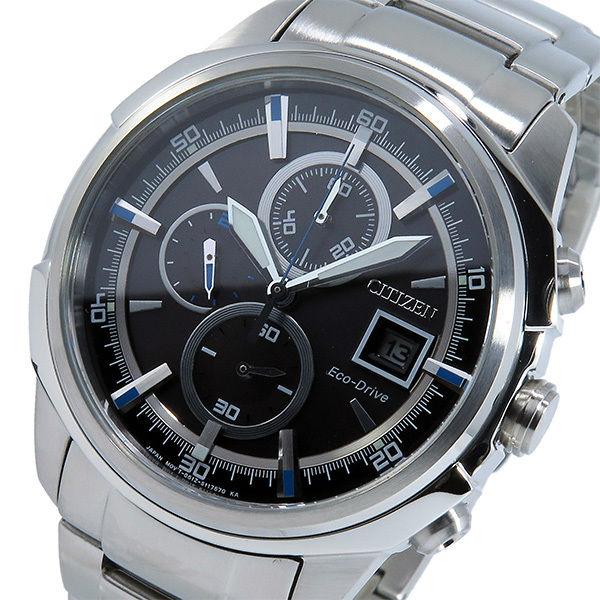 シチズン CITIZEN クオーツ クロノ メンズ 腕時計 CA0370-54E ブラック/ブルー