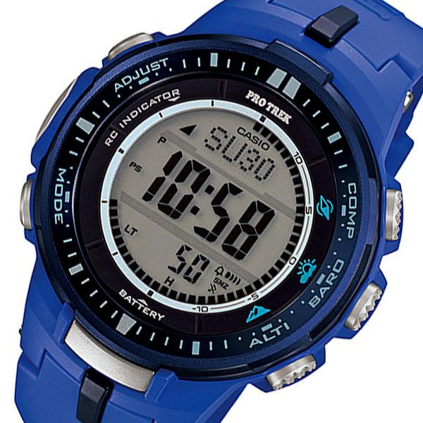カシオ CASIO プロトレック 電波 タフソーラー メンズ 腕時計 PRW-3000-2B ブルー