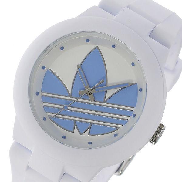 アディダス ADIDAS アバディーン クオーツ ユニセックス 腕時計 ADH3142 ホワイト/パステルブルー
