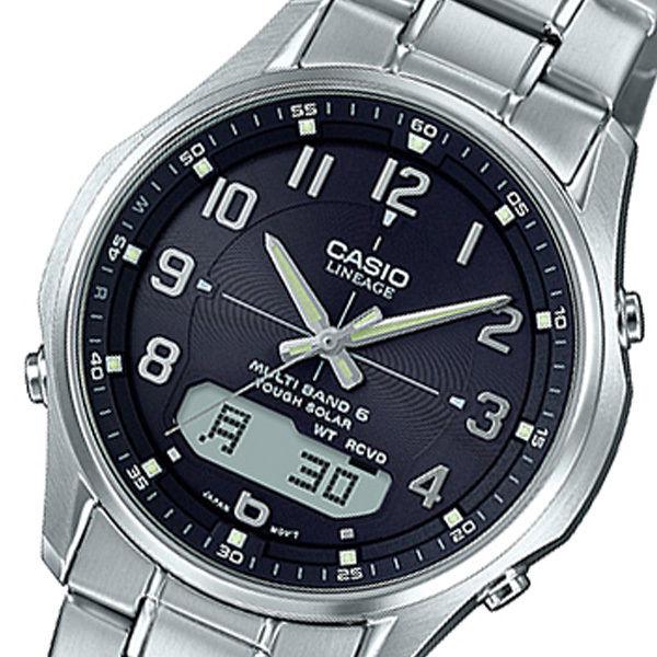 カシオ CASIO リニエージ LINEAGE アナデジ クオーツ メンズ 腕時計 LCW-M100DE-1A3JF ブラック 国内正規