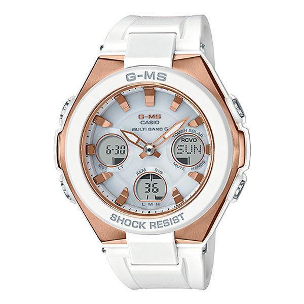 カシオ ベビーG ジーミズ G-MS アナデジ クオーツ レディース 腕時計 MSG-W100G-7AJF ホワイト 国内正規
