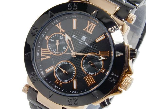 サルバトーレマーラ SALVATORE MARRA クオーツ メンズ 腕時計 SM14118-PGBK