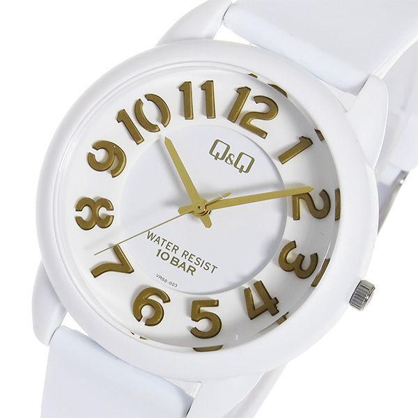シチズン キューアンドキュー クオーツ ユニセックス 腕時計 VR66-003 ホワイト