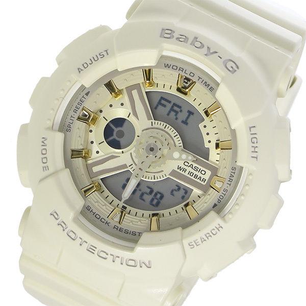 カシオ CASIO ベビーG BABY-G クオーツ レディース 腕時計 BA-110GA-7A2 アイボリー