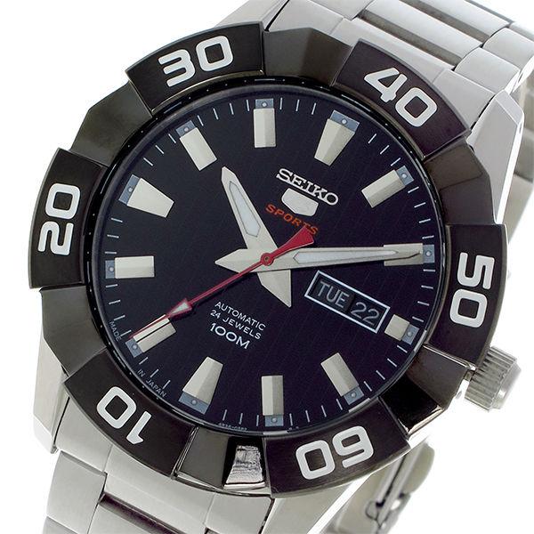 セイコー SEIKO セイコー5 スポーツ SPORTS 自動巻き メンズ 腕時計 SRPA55J1 ブラック