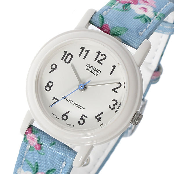 カシオ CASIO ベーシック クオーツ レディース 腕時計 LQ-139LB-2B2 ホワイト/ブルー