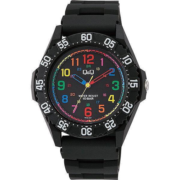 シチズン CITIZEN キューアンドキュー Q&Q 10気圧防水 メンズ 腕時計 VR76-001 ブラック
