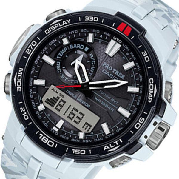 カシオ CASIO プロトレック ソーラー 電波 メンズ 腕時計 PRW-6000SC-7 ホワイト