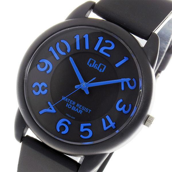 シチズン キューアンドキュー クオーツ ユニセックス 腕時計 VR64-005 ブラック