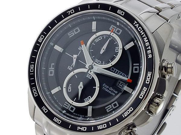 シチズン CITIZEN エコドライブ メンズ クロノ 腕時計 CA0341-52E