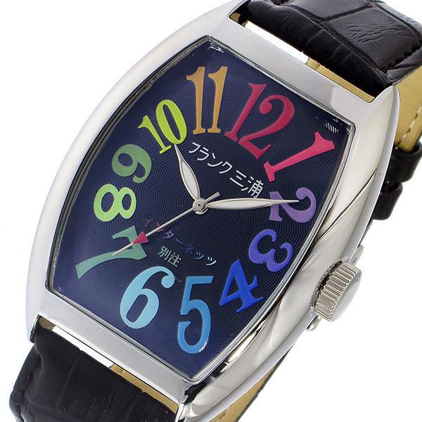 フランク三浦 インターネッツ別注 クオーツ メンズ 腕時計 FM06IT-CRBK ブラック/マルチ 【ネット限定】