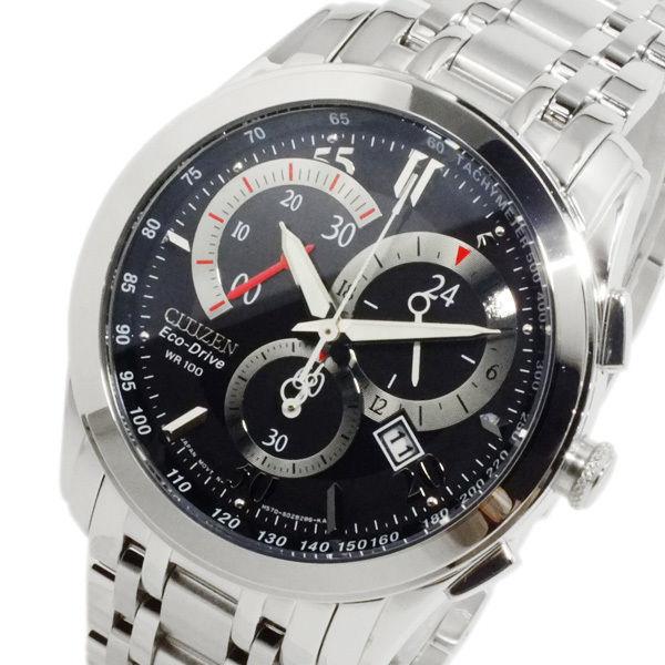 シチズン CITIZEN エコドライブ メンズ クロノ 腕時計 AT1007-51E ブラック